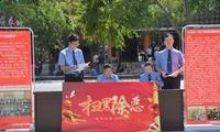 """新宾县人民检察院干警组成""""检察宣传队""""到各乡镇宣传扫黑除恶"""
