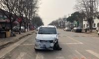 面包车前胎破裂仍疯狂行驶 醉酒司机遭民警截停