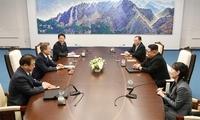 """朝韩首脑对话细节:金正恩用""""千里马速度""""形容半岛统一"""