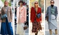 西装搭奶奶长裙 复古风在春季里摇曳生姿