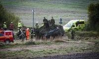 驯鹿闯入芬兰军演地致装甲车追尾