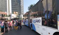 印尼首都雅加达迎来亚运会期间首个无车日