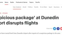 新西兰枪击案疑犯所住小镇机场发现可疑包裹 机场?#24544;?#20851;闭