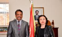 驻肯尼亚大使、常驻联合国环境署代表孙保红会见厄立特里亚驻肯尼亚大使罗森