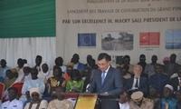 驻塞内加尔大使张迅出席方久尼大桥开工仪式