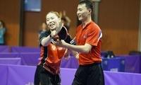 韩朝联队亮相国际乒联世界巡回赛韩国公开赛
