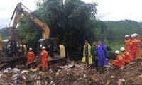 广西凌云山体滑坡发现两名失踪人员遗体 正徒手寻找