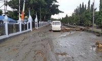 印尼山洪暴发造成?#36797;?3人死亡 数十人失踪
