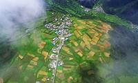 航拍角度下的西藏美景,太美太震撼了