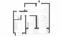 62平简约风小户型二居室,电视背景墙改成收纳最实用