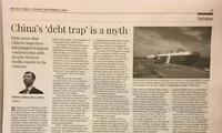 """驻加拿大大使卢沙野在加《国会山时报》发表署名文章批驳""""中国债务陷阱论"""""""