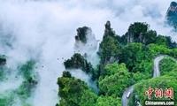 第五届航拍武陵源摄影大赛启动 展世界自然遗产地峰林全景
